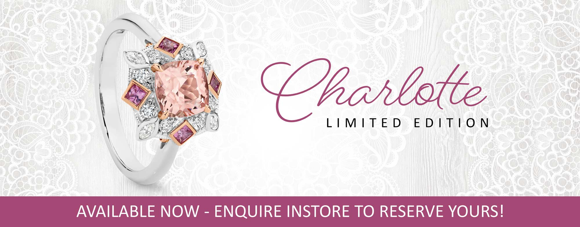 Shop Charlotte, Limited Edition Ring At Facets Showcase Jewellers